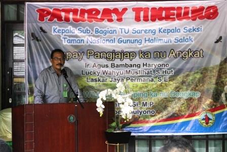 Balai Taman Nasional Gunung Halimun Salak Melakukan Serah Terima Pejabat Eselon IV